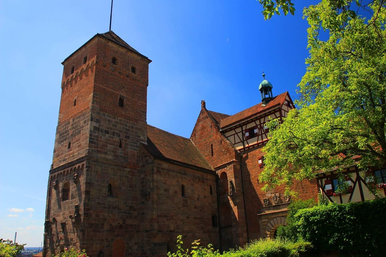 Nürnberger Burg, Nürnberg, Bayern, Heidenturm