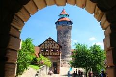 Nürnberger Burg, Nürnberg, Bayern, Sinnwellturm