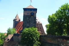 Nürnberger Burg, Nürnberg, Bayern, Fünfeckturm und Kaiserstallung