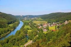 Blick von Burg Prunn, Altmühltal, Bayern