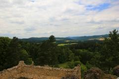 Blick von der Burgruine Lichtenegg, Birgland-Lichtenegg, Bayern