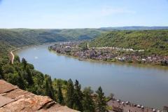 Blick von der Marksburg, Braubach, Rheinland-Pfalz