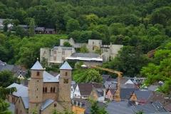 Blick auf die Burg Münstereifel, Bad Münstereifel, Nordrhein-Westfalen