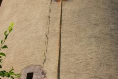 Dinkelsbühl, Faulturm, aus diesem Märchenturm lässt Rapunzel ihr Haar herunter