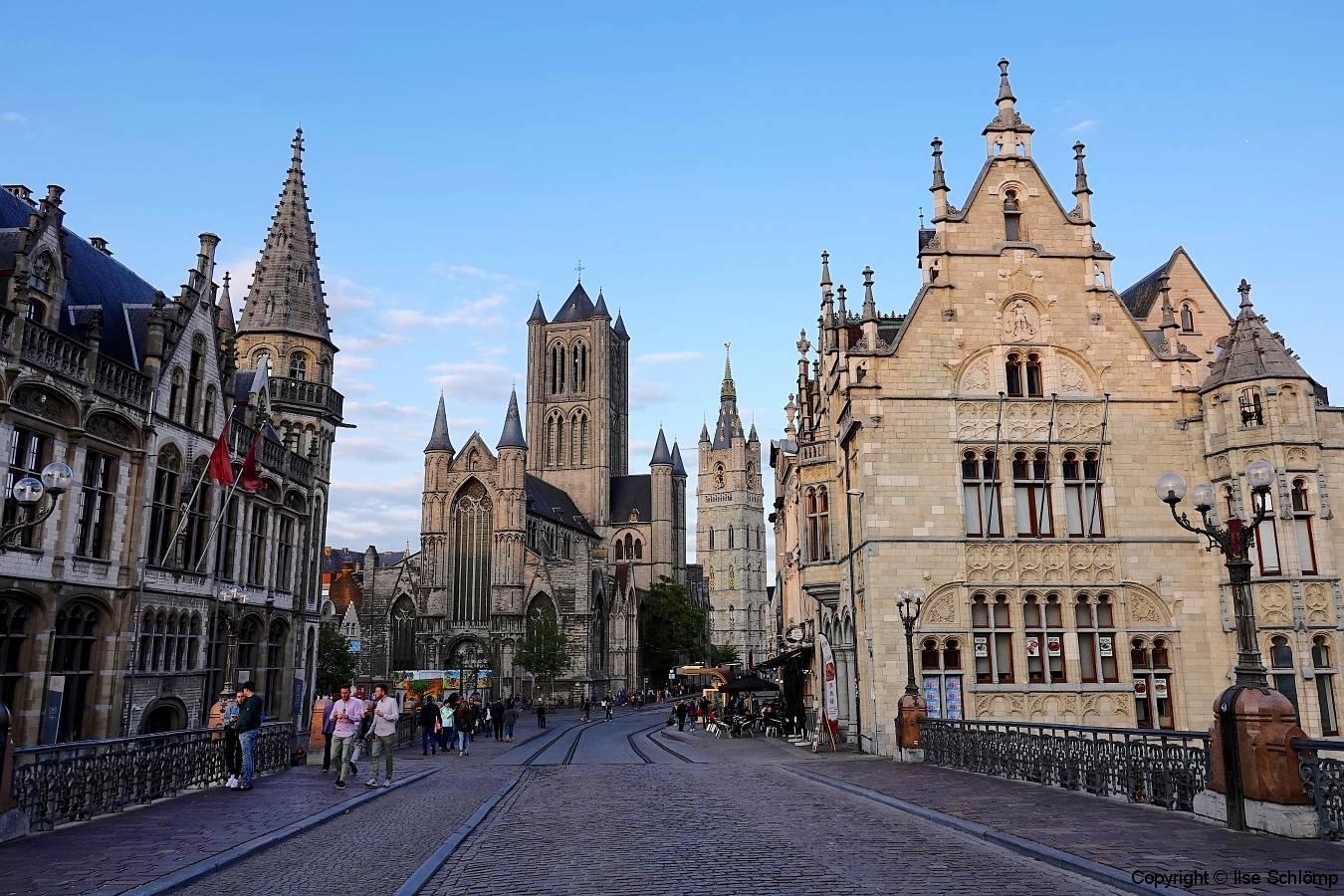 Belgien, Gent, Sint-Niklaaskerk und Belfried