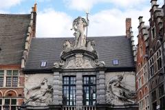 Belgien, Gent, Sint-Veerleplein, Fassade des Fischmarktes
