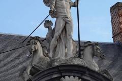 Belgien, Gent, Sint-Veerleplein, Neptun-Statue