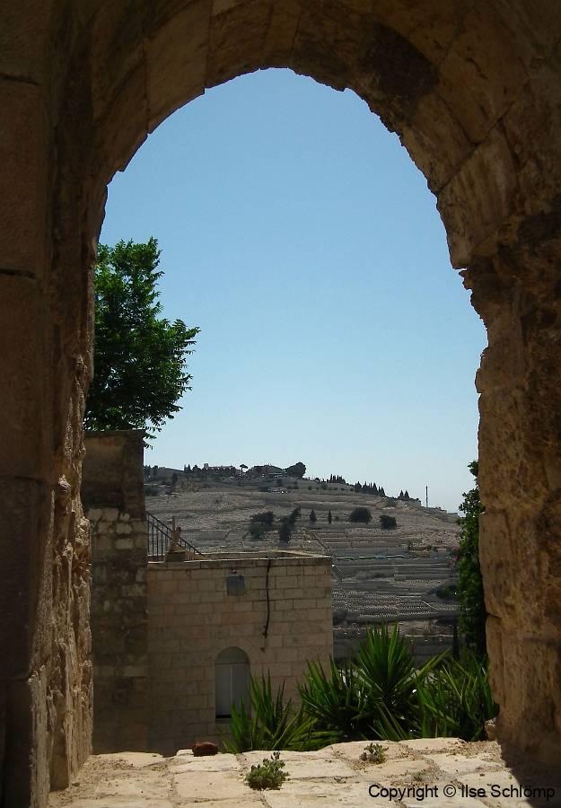 Israel, Jerusalem, Blick auf den Ölberg mit dem jüdischen Friedhof