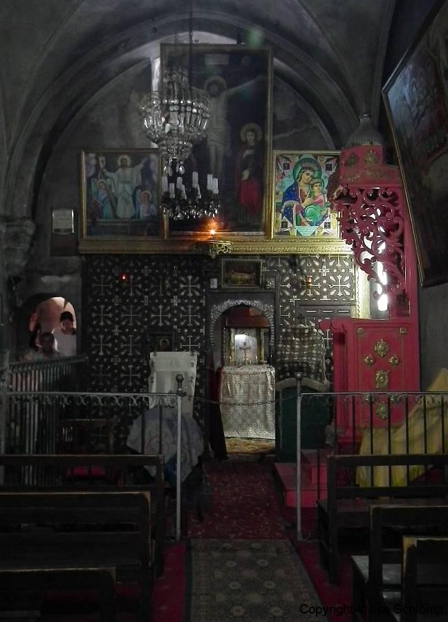 Israel, Jerusalem, Äthiopische Kapelle auf dem Dach der Grabeskirche