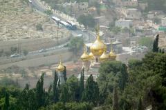 Israel, Jerusalem, Blick vom Ölberg auf die Maria-Magdalena-Kirche
