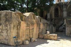Israel, Jerusalem, Auf dem Dach der Grabeskirche, Lehmhütten der äthiopischen Mönche
