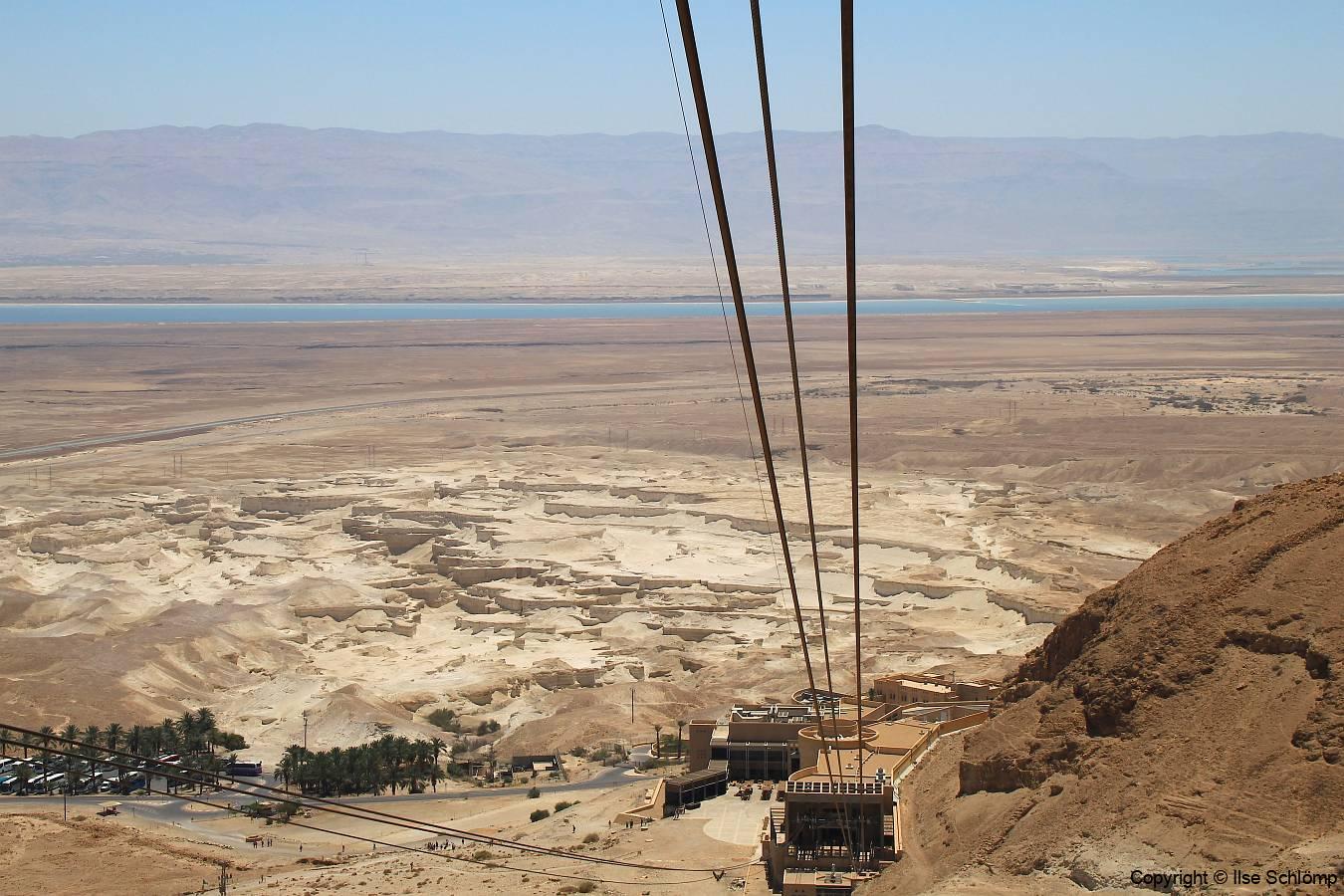 Israel, Masada, Seilbahn