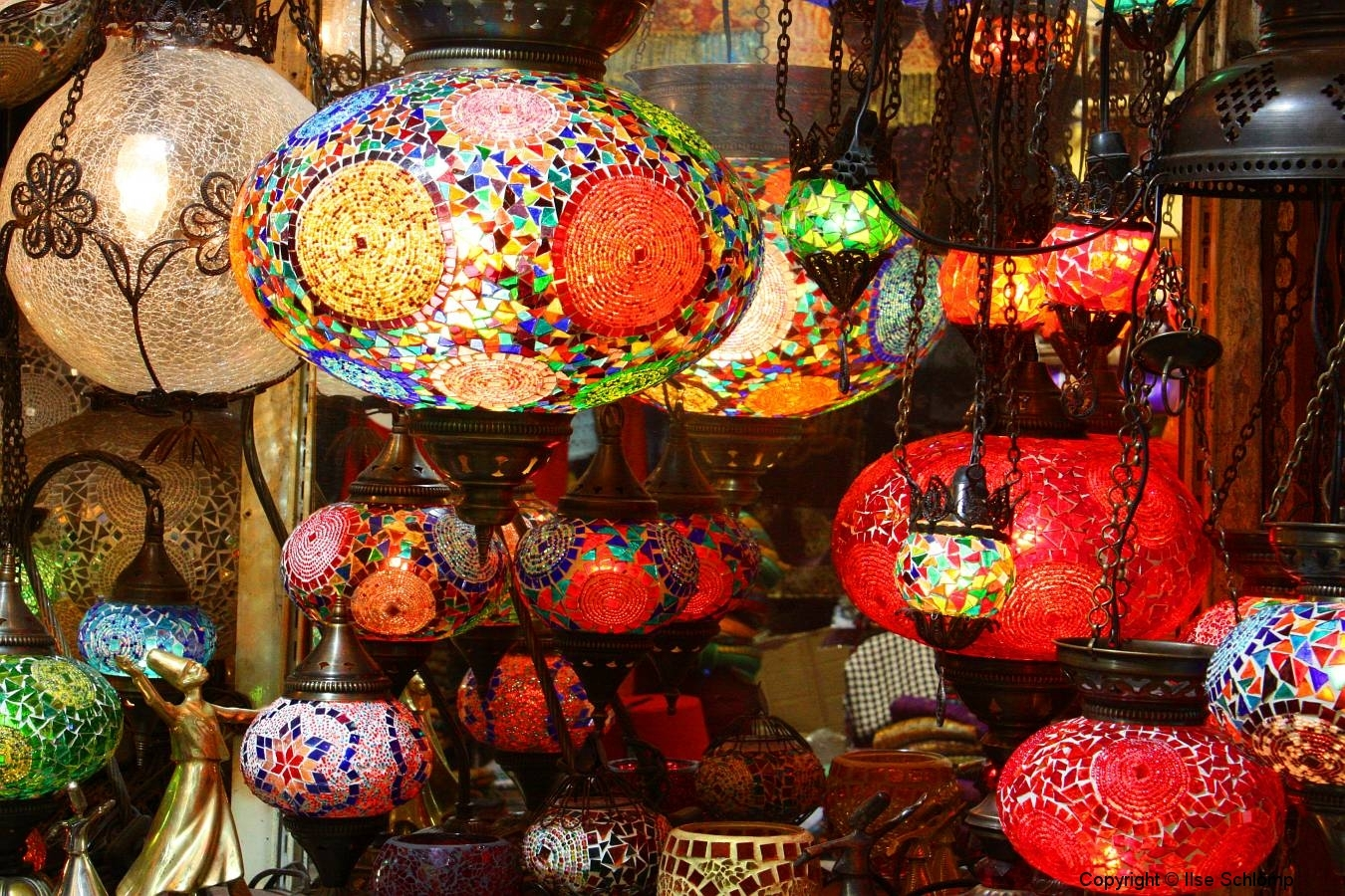 Istanbul, Großer Bazar, Lampenladen