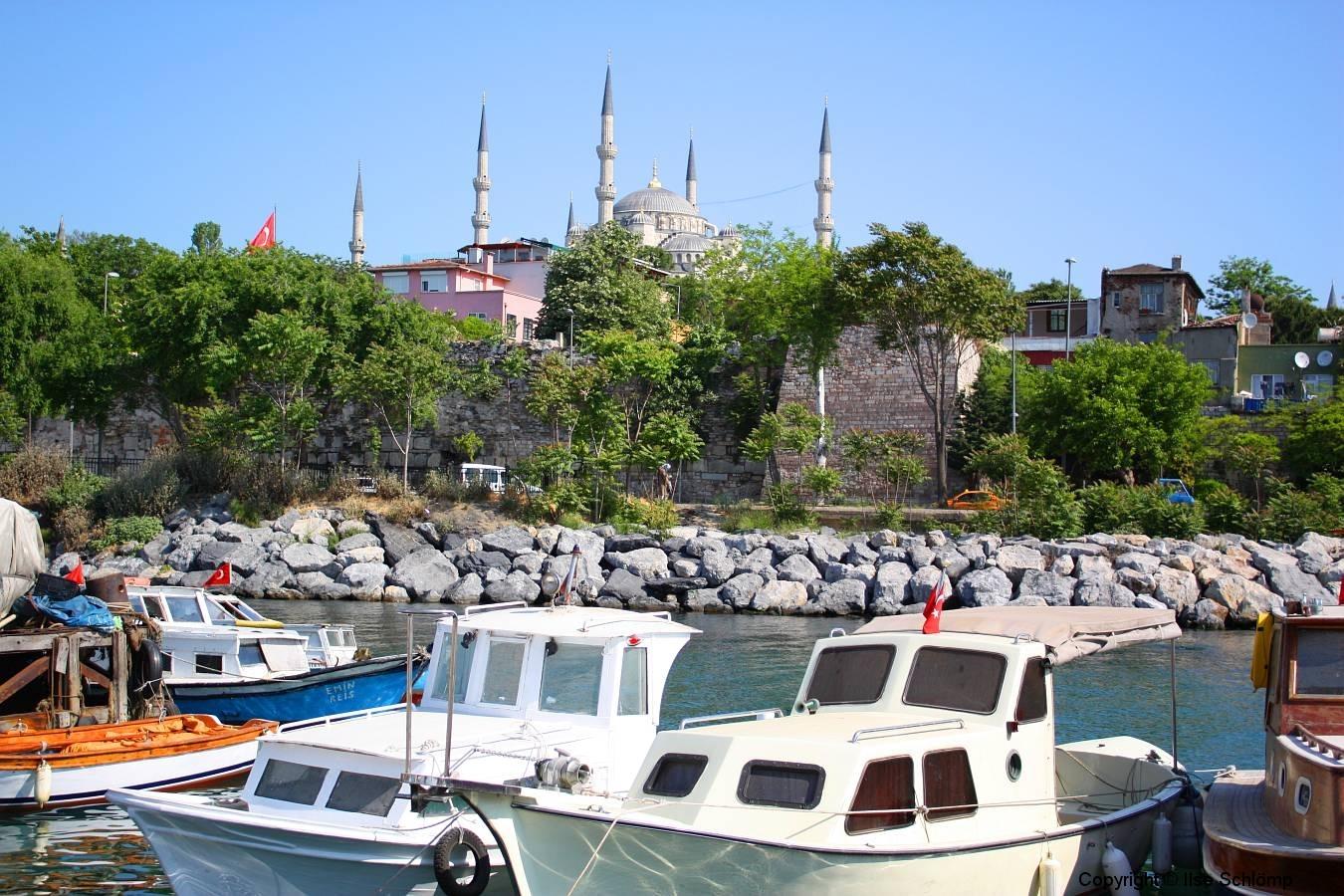 Istanbul, Blick auf die Blaue Moschee