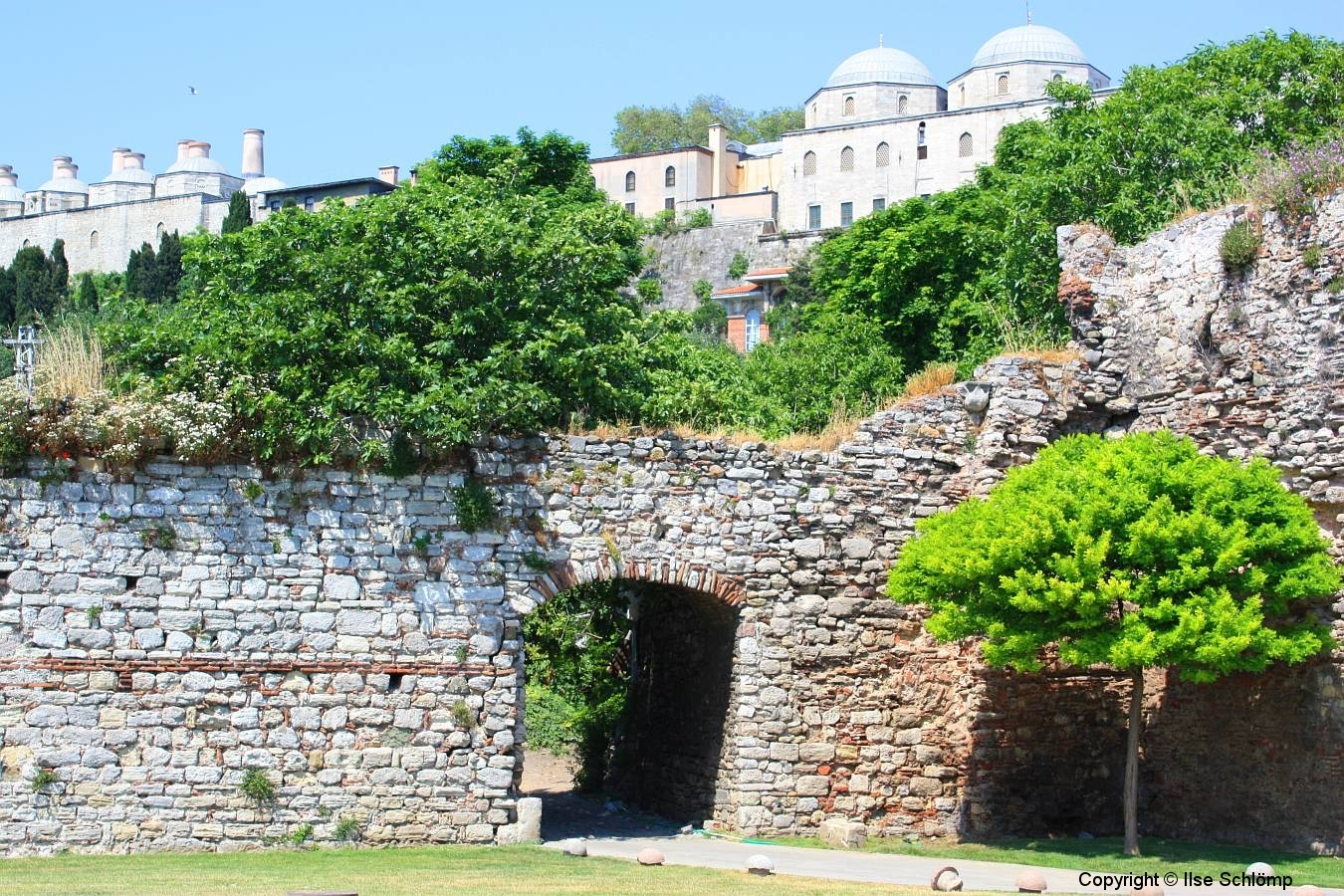 Istanbul, Theodosianische Mauer unterhalb des Topkapi-Palastes