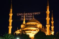 Istanbul, Sultan-Ahmed-Moschee, Blaue Moschee bei Nacht