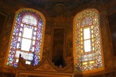Istanbul, Hagia Sophia, Innenansicht, Buntglasfenster