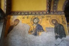 Istanbul, Hagia Sophia, Mosaik, Die grosse Deesis, Jesus als Pantokrator mit Maria und Johannes