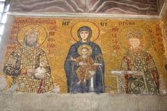 Istanbul, Hagia Sophia, Mosaik, Maria und Kind mit den Erzengeln Gabriel und Michael
