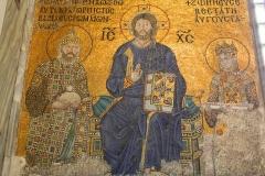 Istanbul, Hagia Sophia, Mosaik, Christus als Pantokrator mit dem Buch des Lebens