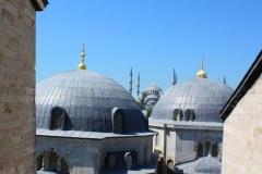 Istanbul, Blick von der Hagia Sophia auf die Blaue Moschee