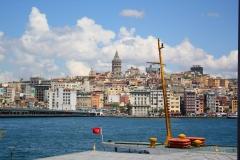 Istanbul, Blick auf den Galataturm und die Galatabrücke