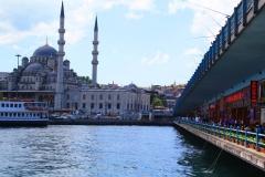 Istanbul, Blick von der Galatabrücke auf die Rüstem-Pascha-Moschee