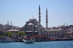 Istanbul, Die Rüstem-Pascha-Moschee von der Fähre aus gesehen