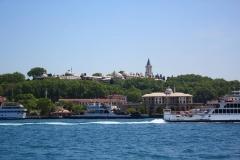 Istanbul, Topkapi-Palast von der Fähre aus gesehen