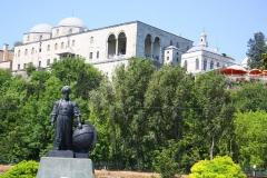 Istanbul, Denkmal Admiral Piri Reis unterhalb des Topkapi-Palastes