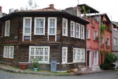 Istanbul, altes Holzhaus