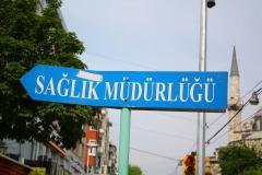 Istanbul, Straßenschild