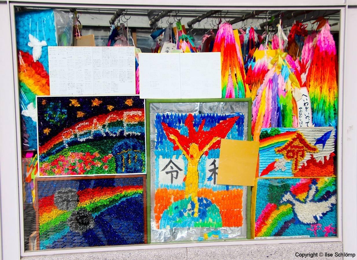 Japan, Hiroshima, Friedens-Papierkraniche