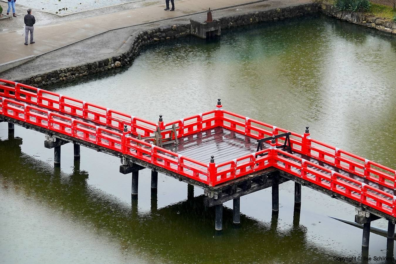 Japan, Matsumoto, Brücke zur Schwarzen Krähenburg