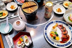 Japan, Kawaguchiko, Unser Abendessen im Ryokan