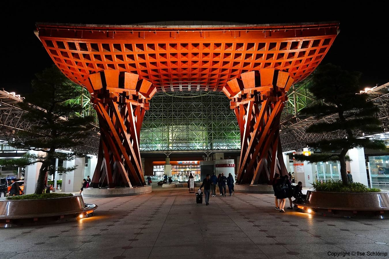 Japan, Kanazawa, Bahnhof