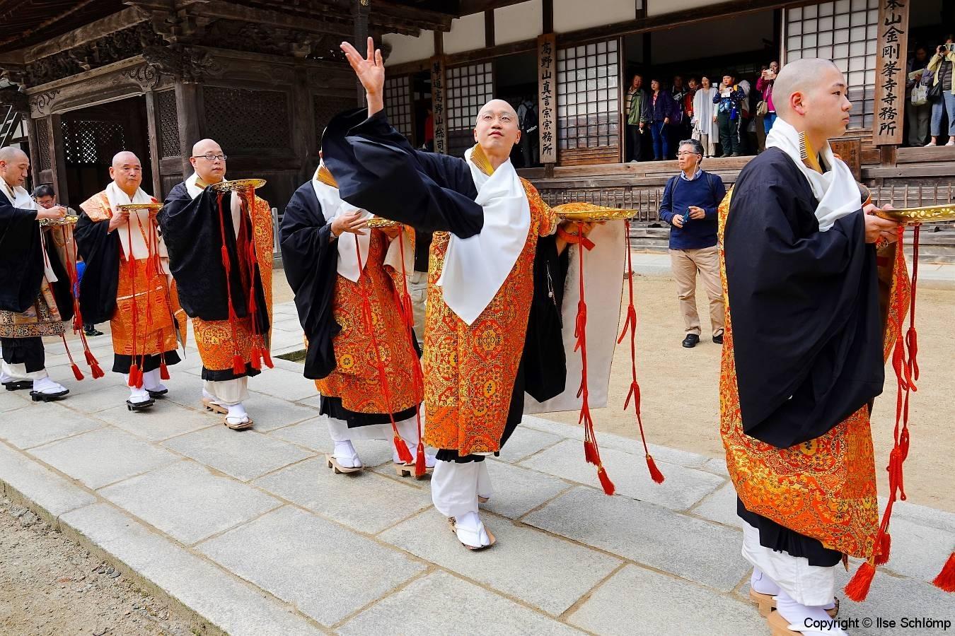 Japan, Koya-san, Kongobu-ji Tempel, Zeremonie