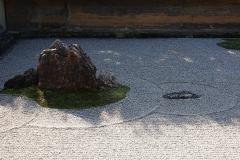 Japan, Kyoto, Zen-Garten des Ryoan-ji Tempels
