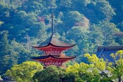 Japan, Miyajima, fünfstöckige Pagode