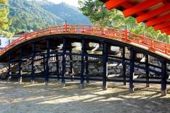 Japan, Miyajima, Itsukushima Schrein, Bogenbrücke