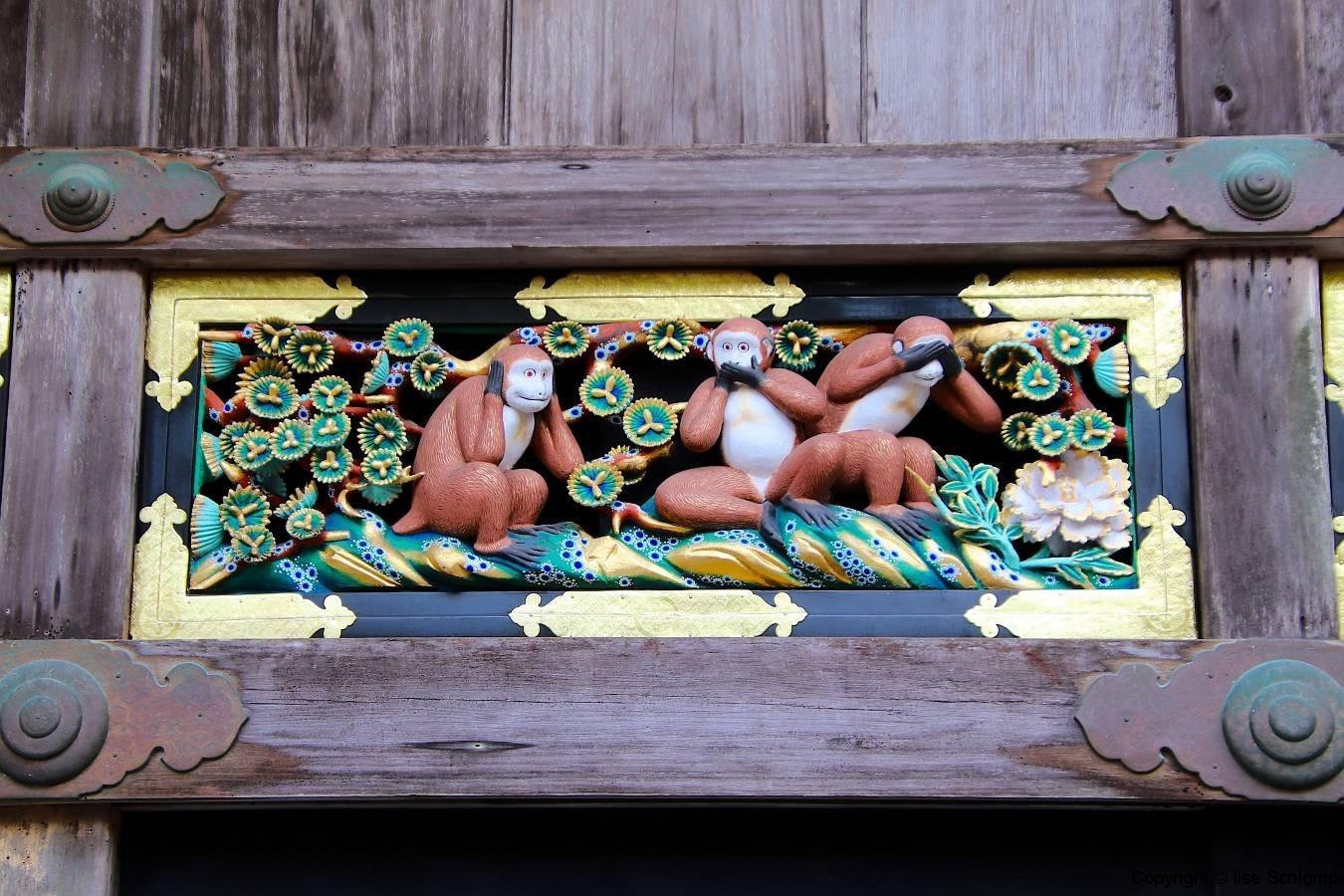 Japan, Nikko, Die drei Affen