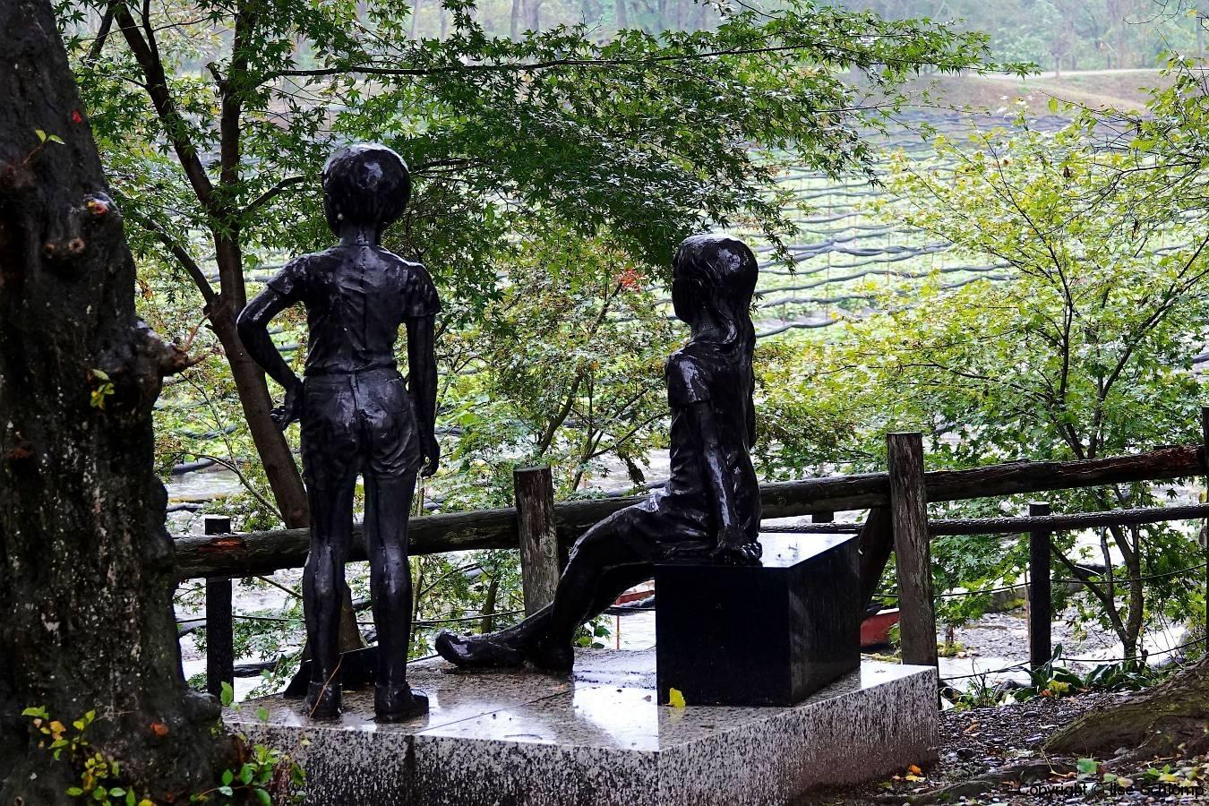 Japan, Hotaka, Daio Wasabi Farm, Skulptur