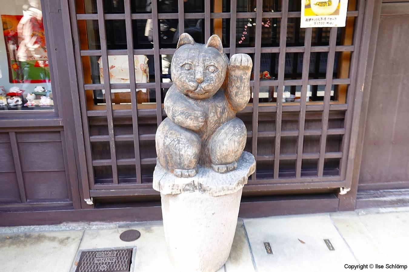 Japan, Takayama, Maneki-neko (Winkekatze)