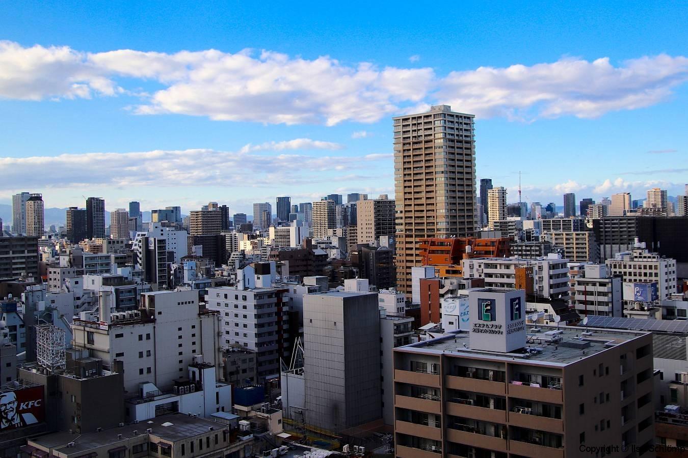 Japan, Osaka, Blick aus unserem Hotelzimmer