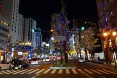 Japan, Osaka, Namba, Weihnachtsbeleuchtung