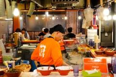 Japan, Osaka, Dotonbori, Garküche