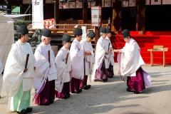 Japan, Osaka, Tenman-gu Schrein, Zeremonie
