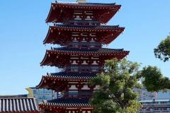 Japan, Osaka, Shitenno-ji Tempel, Fünfstöckige Pagode