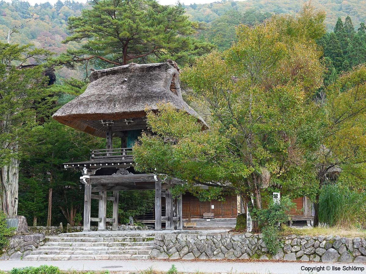 Japan, UNESCO Welterbedorf Shirakawago, Myozenji-Tempel