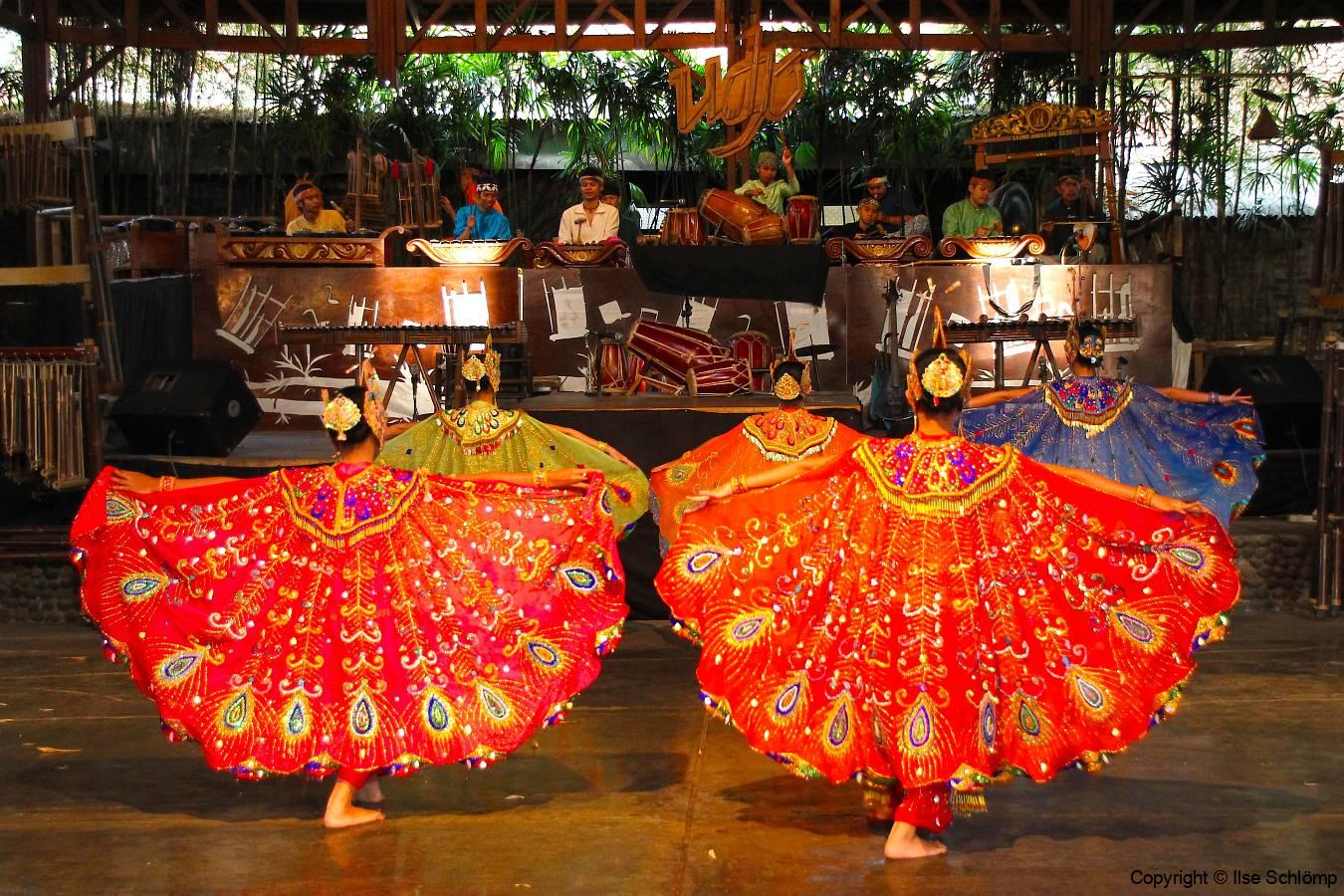 Java, Padasuka, Bambus Musik-Orchester, Tanzaufführung
